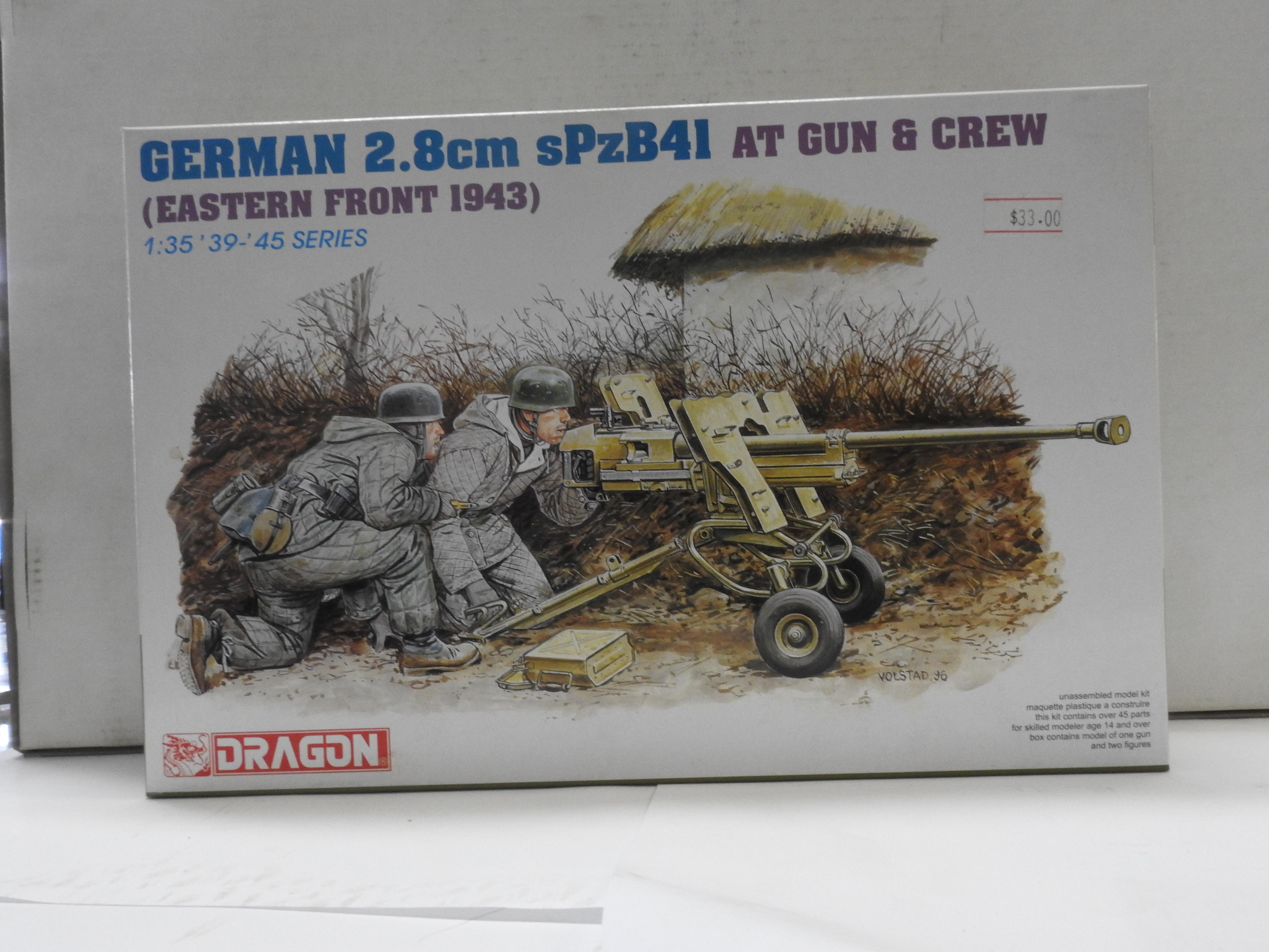 DRAGON 1//35 6056 German 2.8cm sPzB41 AT Gun w//Crew Eastern Front 1943