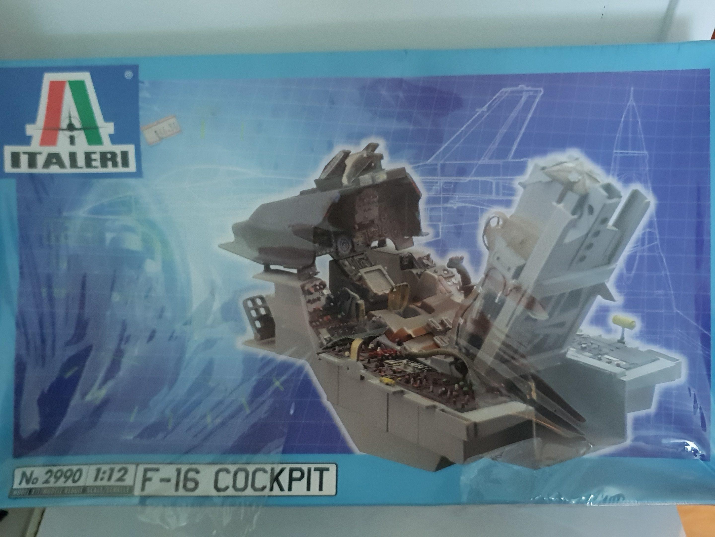 ITALERI 2990 1/12 scale F-16 Cockpit- Plastic Model Kit